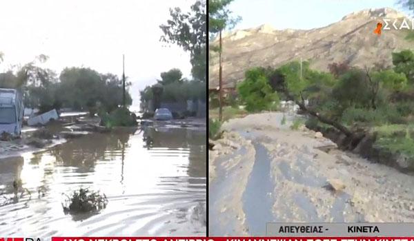Σαρώνει η κακοκαιρία: Καταστροφές στην Κινέτα - Κλειστοί δρόμοι, Απαγόρευση απόπλου